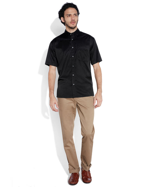 ColorPlus  Black Men Shirt