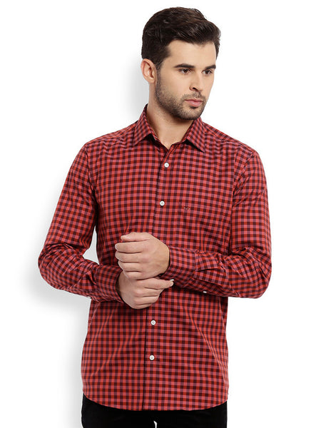 ColorPlus Dark Orange Men's Shirt