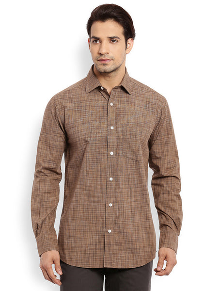 ColorPlus Dark Brown Men's Shirt