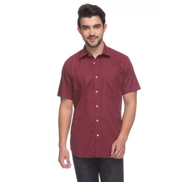 ColorPlus Dark Maroon Men's Shirt