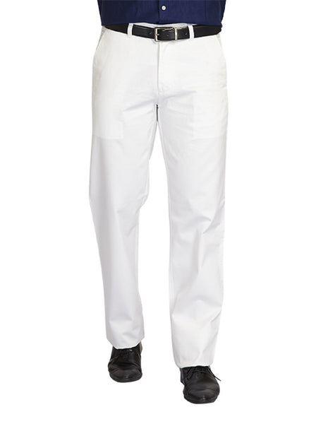 ColorPlus White Men Trouser
