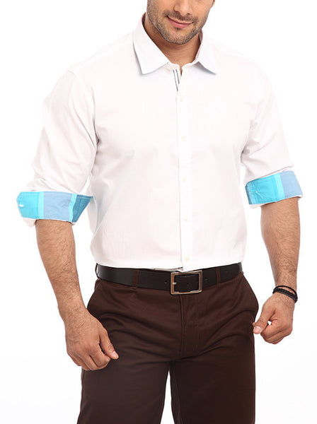 Colorplus White Men Shirts