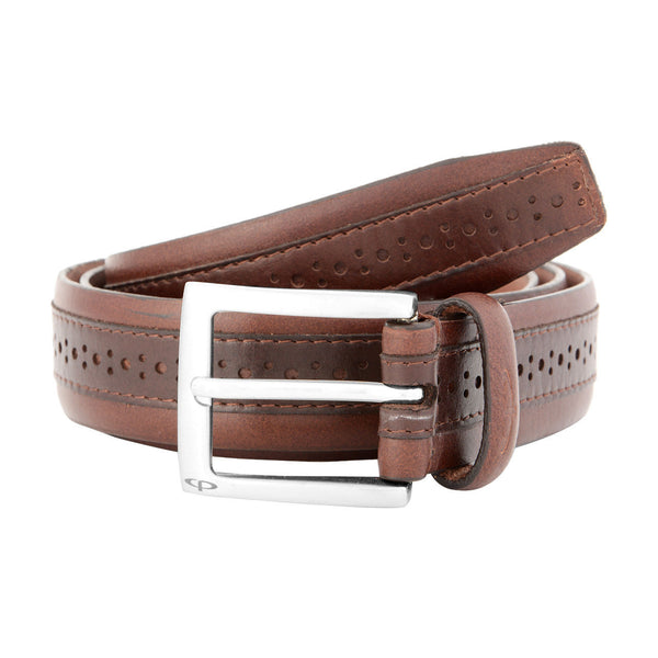 ColorPlus Brown  Leather Belt Men
