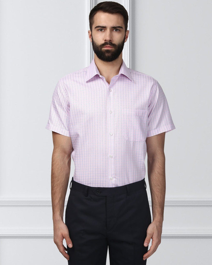 Raymond Supima Men Pink Contemporary Fit Shirt
