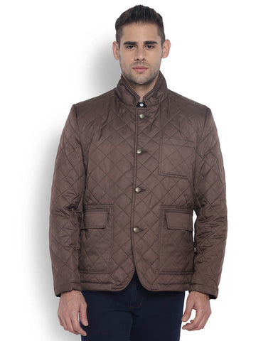 Park Avenue Dark Brown Regular Fit OuterWear