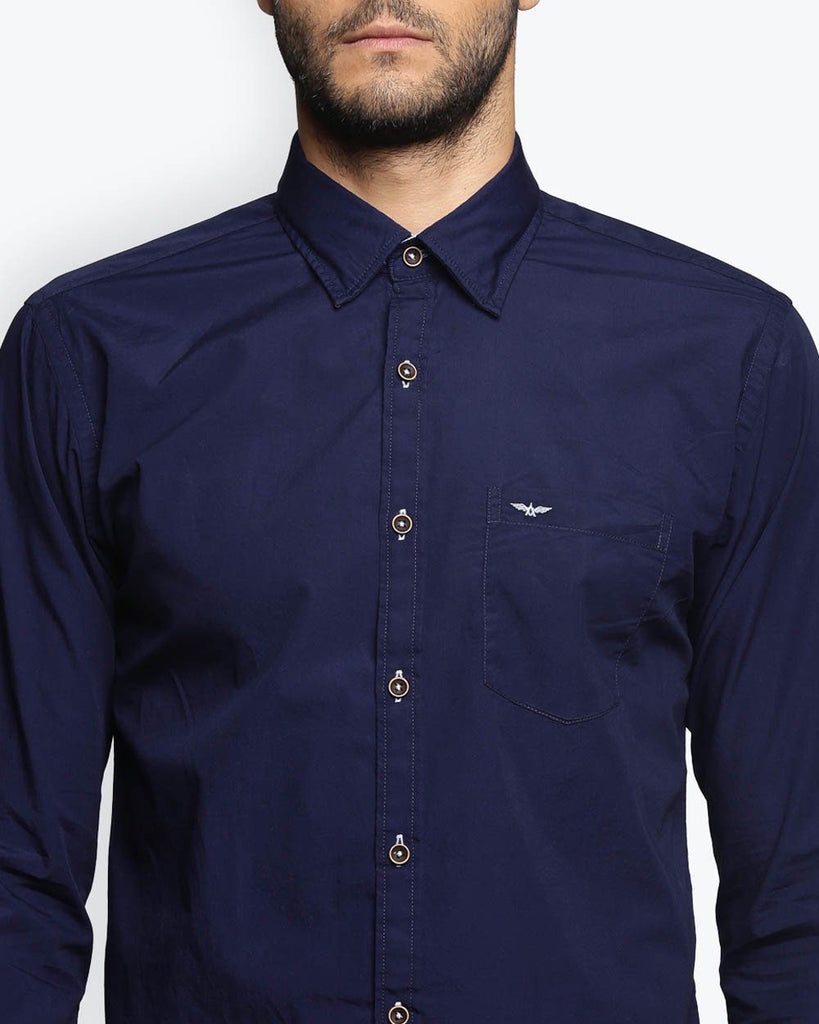 Park Avenue Dark Blue Slim Fit Shirt