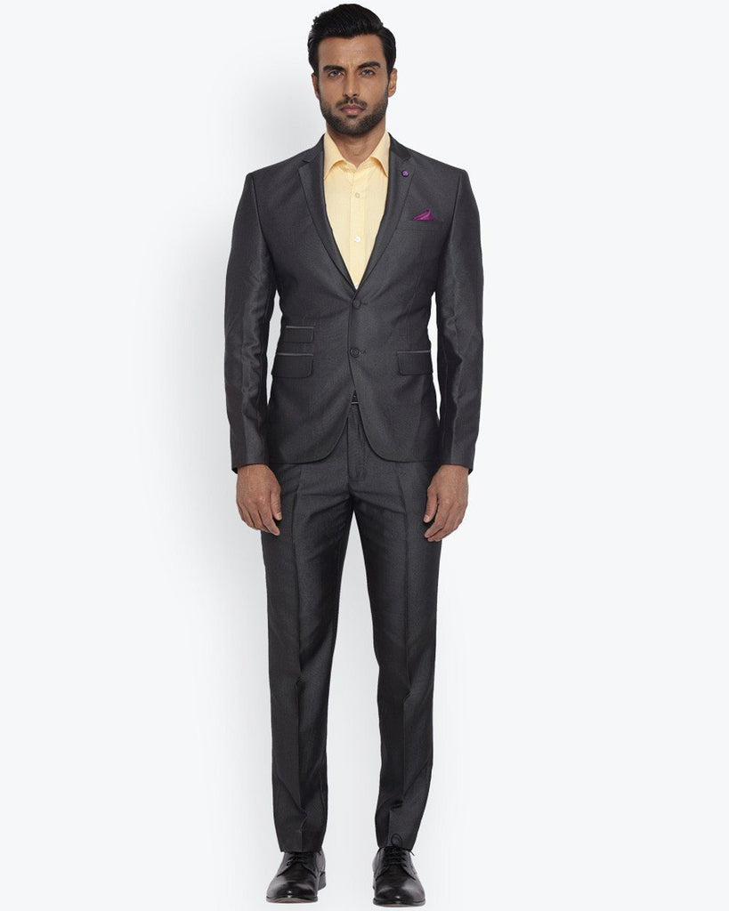 Park Avenue Dark Grey Regular Fit Suit