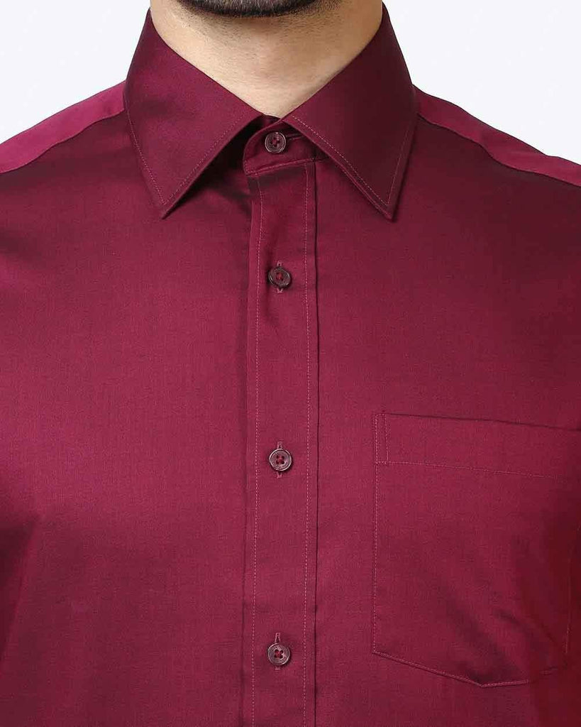 Park Avenue Dark Maroon Regular Fit Shirt