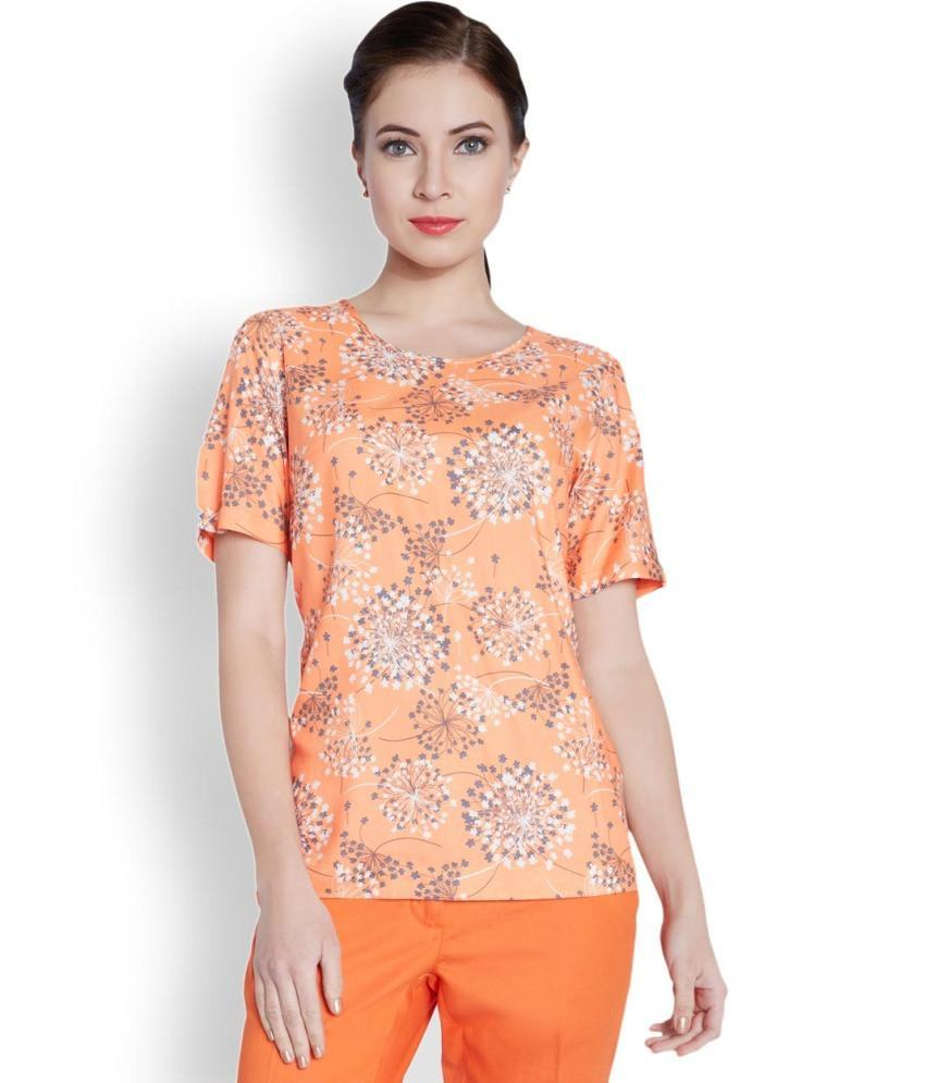 Park Avenue Woman Orange Regular Fit Top