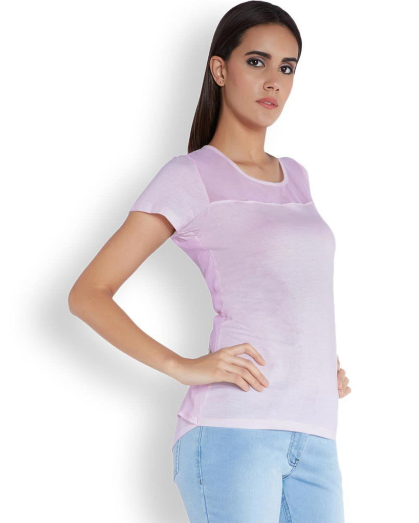Park Avenue Woman Purple Regular Fit T-Shirt