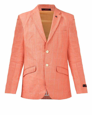 Raymond Orange Contemporary Fit Jacket