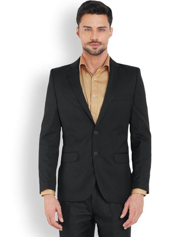 Raymond  Black Tailored Fit Jacket