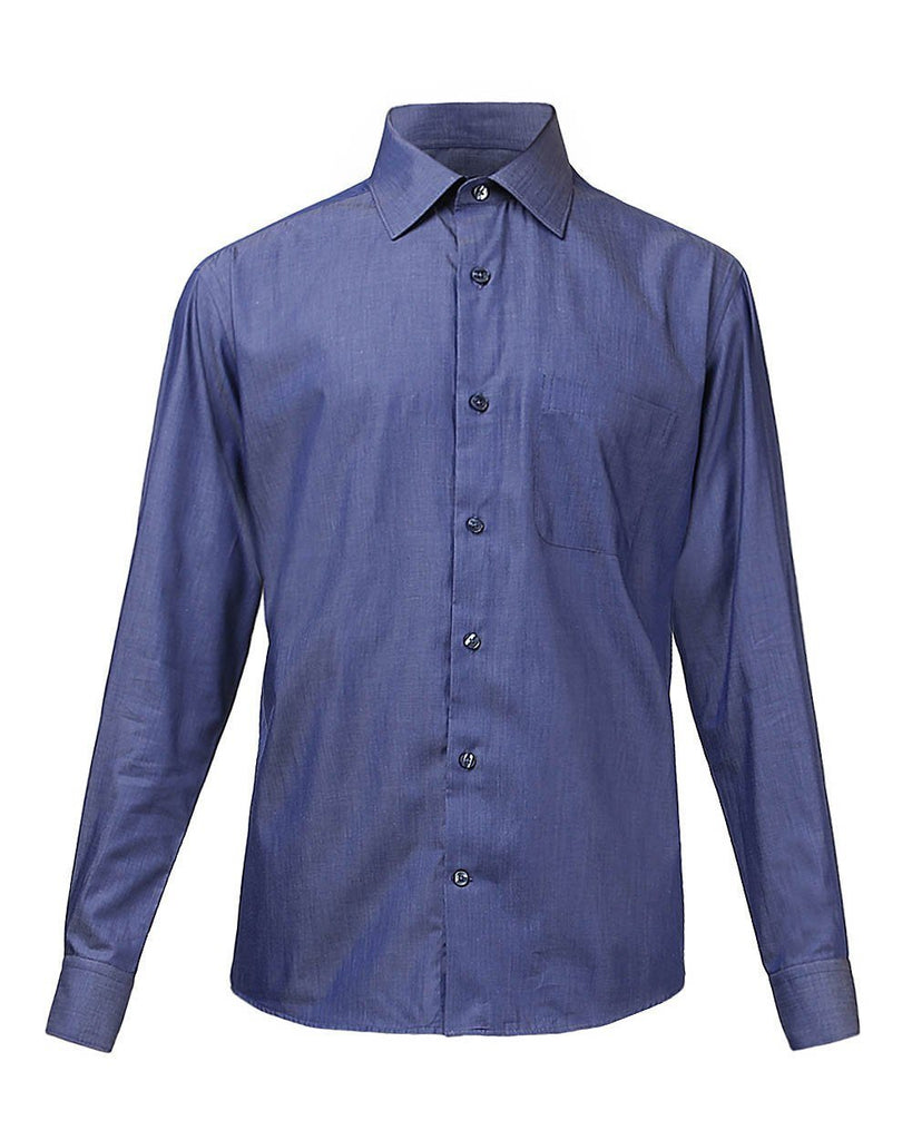Raymond Supima Dark Blue Slim Fit Shirt