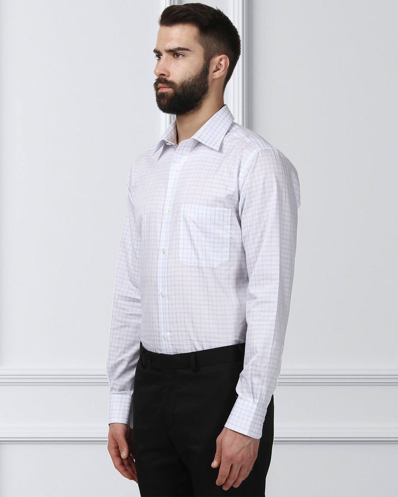Raymond Supima Blue Slim Fit Shirt