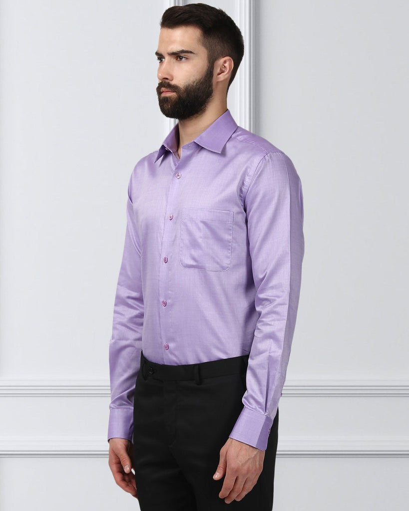 Raymond Supima Violet Slim Fit Shirt