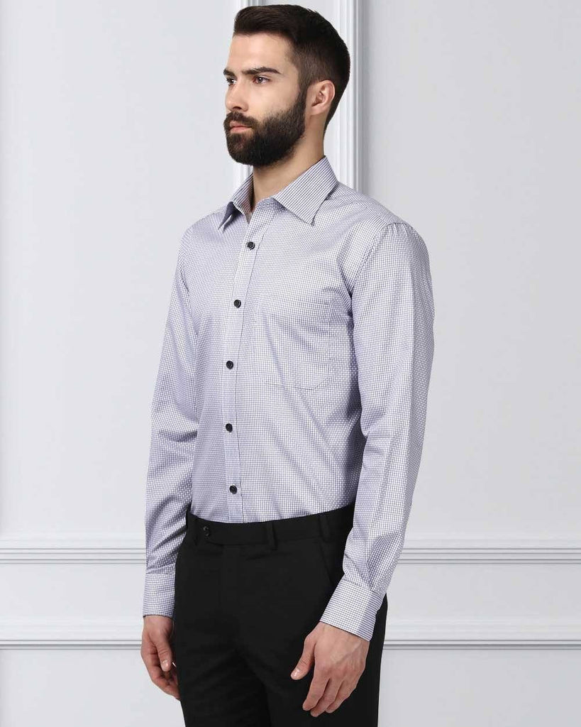 Raymond Supima Grey Contemporary Fit Shirt