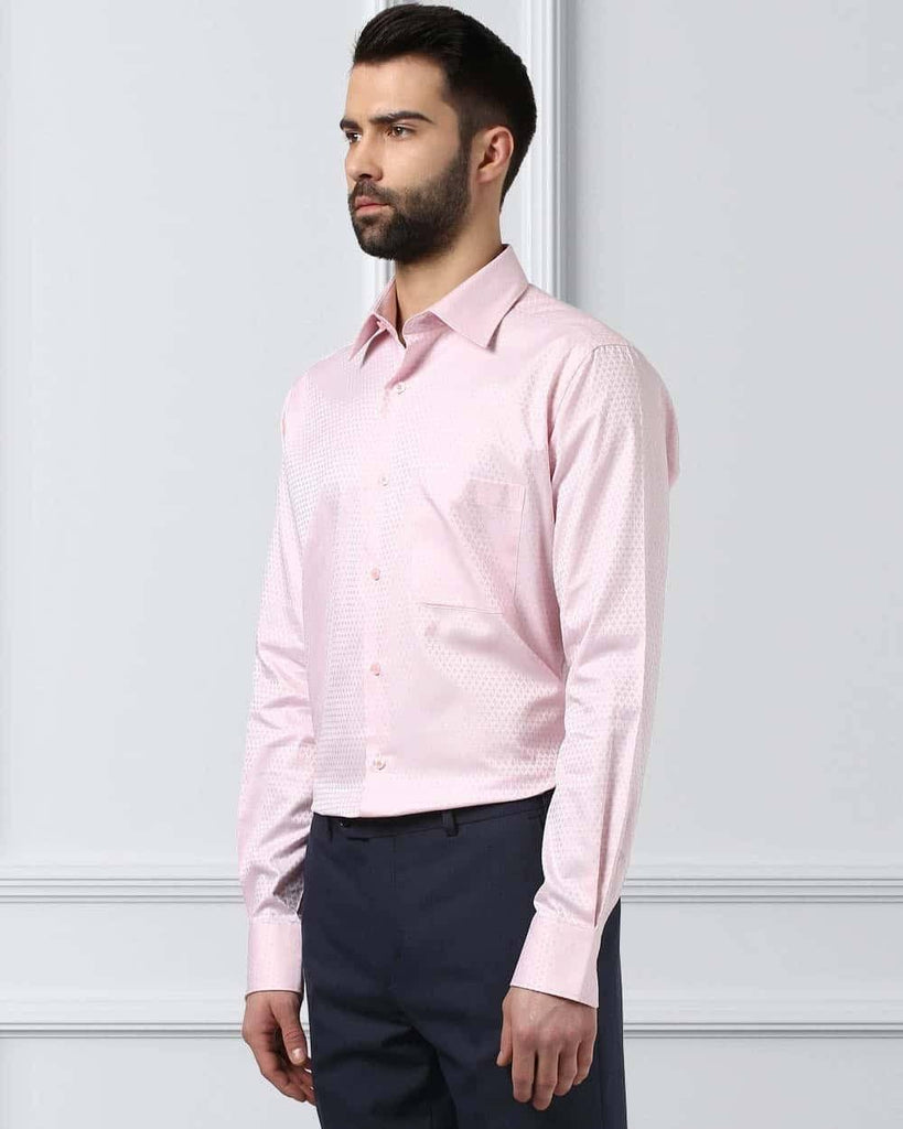Raymond Supima Pink Contemporary Fit Shirt