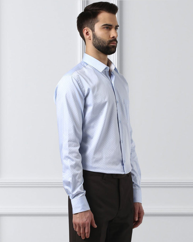 Raymond Supima  Blue  Contemporary Fit Shirt