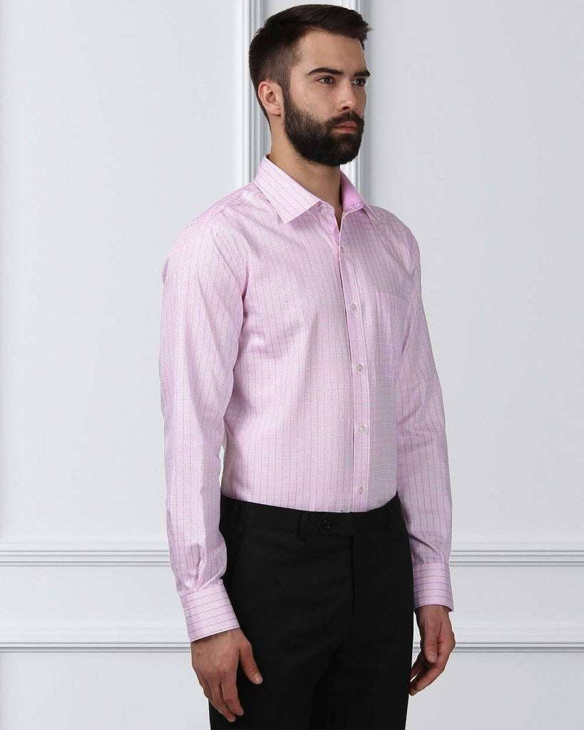 Raymond Supima Red Contemporary Fit Shirt