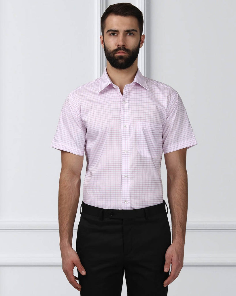 Raymond Men Pink Cotton Contemporary Fit Shirt