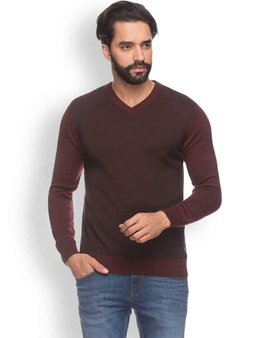 Raymond  Maroon Contemporary Fit Sweater