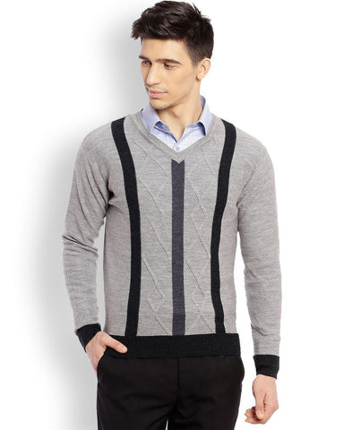 Raymond Medium Grey Checkered Sweater