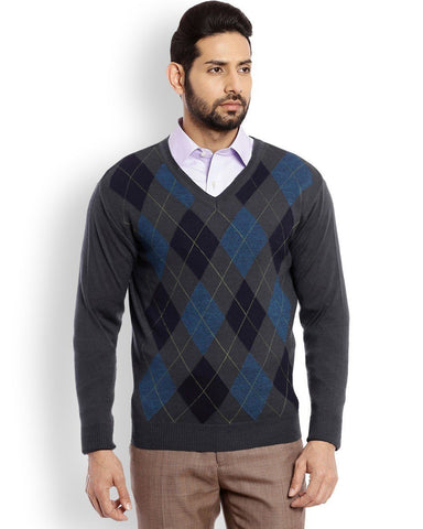 Raymond Dark Green Checkered Sweater