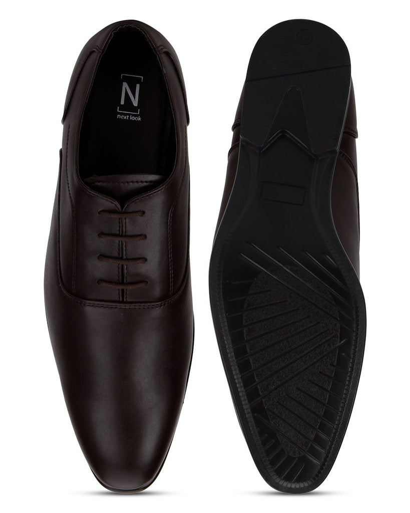 Next Look Brown Synthetic Leather Shoes