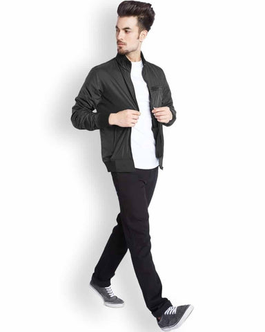 Parx Black Regular Fit Outerwear
