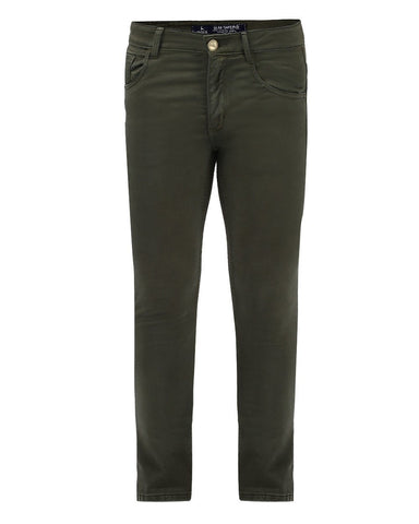 Parx Green Slim Tapered Fit Jeans
