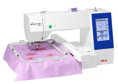 Elna Expressive 830 Embroidery Machine (Janome 500e equivalent) - Limited stock - extended 5 year guarantee