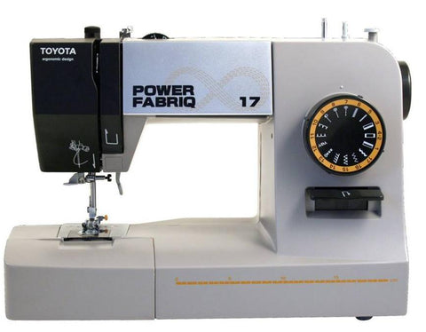 Toyota Power FabriQ 17 Sewing Machine * Heavy Duty Model * Sews Silk to Leather * Power Range * Showroom model
