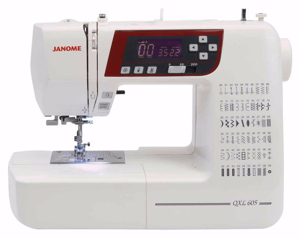 Janome QXL605 Save £70 + FREE JQ2 Quilting Kit worth £119 on this Sewing with Style offer