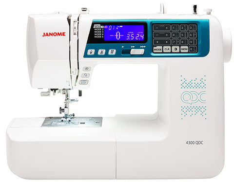 Janome 4300 QDC - now on offer - save £100 * over 300 stitch patterns + alphabet and numbers *
