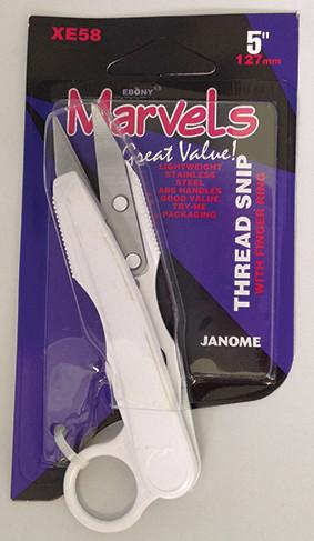 Janome 5 inch Marvels - Thread Snips/Finger Hole XE58