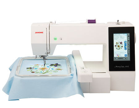 Janome Memory Craft 500E Embroidery Machine - Now on offer - save £200