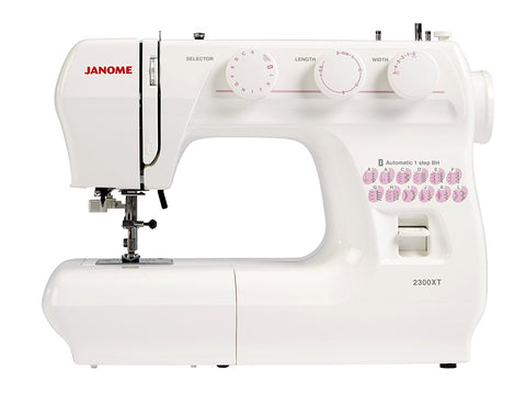 Janome 2300XT (drop feed, 1 step buttonhole) + FREE Janome Even Feed Walking foot worth £45