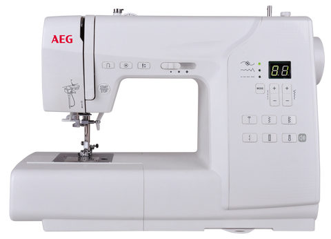 AEG 63Z - 80 stitches - strong metal frame with auto needle threader