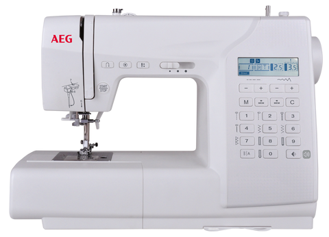 AEG 65Z - 100 stitches + Alphabet strong + Hard cover - metal frame with auto needle threader