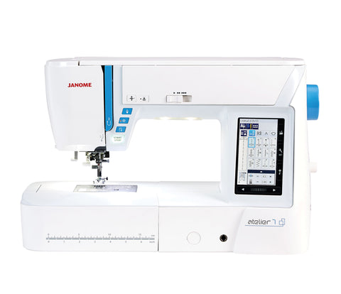Janome Atelier 7 Sewing Machine * Large Touch Screen, 9Mm Stich Width, Ideal For Quilting