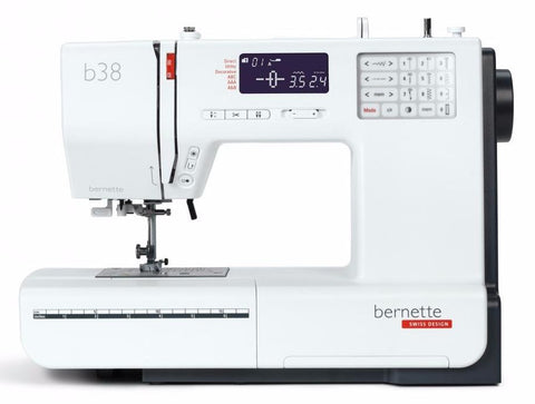 Bernina Bernette B38 with Auto Thread cutter, Extension table and Hard Cover (394 stitch patterns + 3 alphabets)