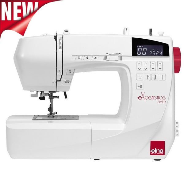 Elna Experience 560 Sewing Machine * New 2018 Model * 100 Stitch Patterns + Extension Table And Hard Cover