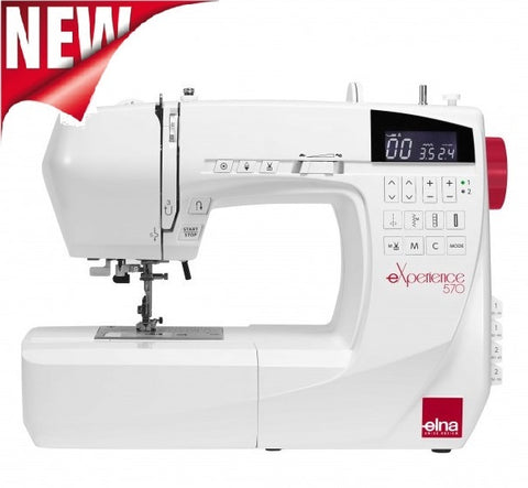 Elna Experience 570 Sewing Machine * New 2018 Model * 200 Stitch Patterns + Extension Table And Hard Cover