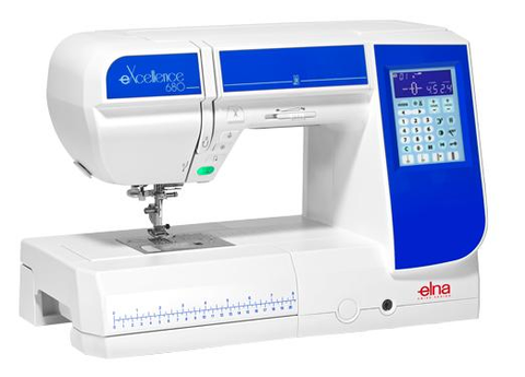 Elna 680Ex Sewing Machine - Discontinued model - Limited stock due March (Replacement model Janome Atelier 5)