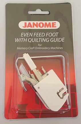 Janome Even Feed Foot - With Quilters Guide (Standard Closed Toe) - Category C 200309008