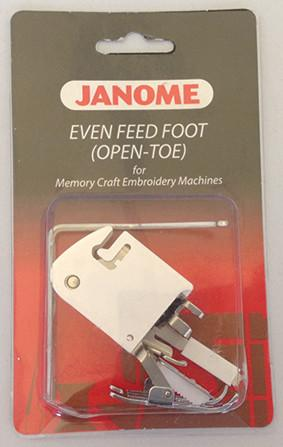 Janome Even Feed Foot - With Quilters Guide (Standard OpenToe) - Category C 200338006