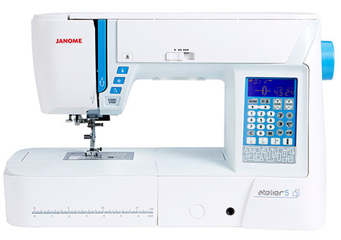 Janome Atelier 5 Sewing Machine * Ideal For Quilting, 9Mm Stitch Width! * Save £100 + Free Quilting Kit With Extension Table Worth £185