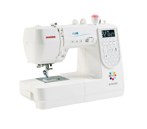 Janome M100 QDC - Includes Bonus pack and Extension table + FREE METTLER THREAD SET