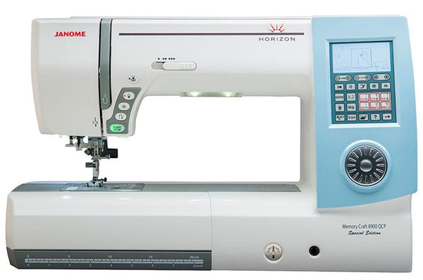 Janome Horizon Memory Craft 8900QCP Special Edition plus free thread set worth £199