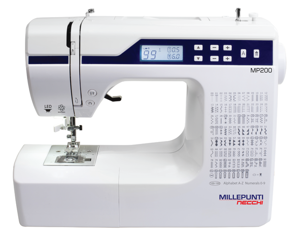 Millepunti by Necchi MP200 + Extension table - Sewing & Quilting Machine with Alphabet